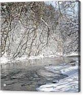 Snow At The Creek Acrylic Print