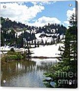 Snow At Tipsoo Lake Acrylic Print