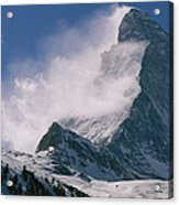 Snow Blows Off Of The Matterhorn Acrylic Print