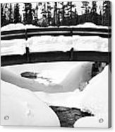 Snow Bridge In Canadian Rockies Acrylic Print