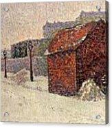 Snow Butte Montmartre Acrylic Print by Paul Signac