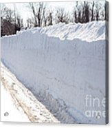 Snow By The Roadside Acrylic Print by Ted Kinsman