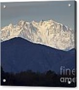 Snow-capped Mountain Monte Rosa Acrylic Print