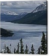 Snow-capped Moutains Rise Acrylic Print