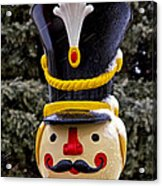 Snow Coverd Toy Soldier Acrylic Print