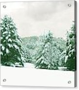 Snow Covered Countryside Acrylic Print