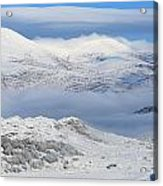 Snow Covered Landscape In Winter Near Acrylic Print
