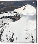 Snow-covered Ngauruhoe Cone, Mount Acrylic Print by Richard Roscoe
