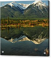 Snow Covered Peaks Of Canadian Rockies Acrylic Print