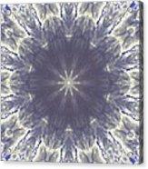 Snow Flake Crystal Acrylic Print