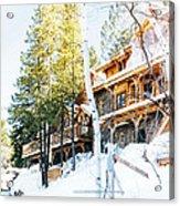 Snow Lodge Acrylic Print