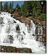 Snow Melt Glen Alpine Falls Acrylic Print