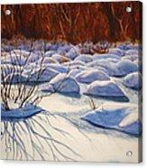 Snow Mounds Acrylic Print by Daydre Hamilton