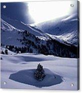 Snow Mountain Austria  Acrylic Print