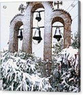 Snow On Campanile Acrylic Print