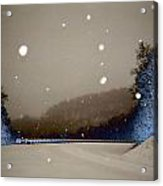 Snow On The Chero Solarized  Acrylic Print
