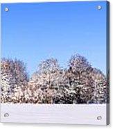 Snow Panoramic Landscape Acrylic Print