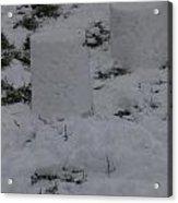 Snow Pillers Acrylic Print