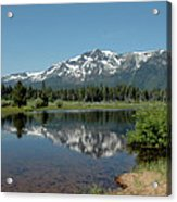 Snow Reflections Mt Tallac Acrylic Print