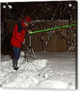 Snow Researcher Acrylic Print