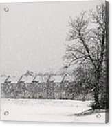 Snow Scape London Sw Acrylic Print by Lenny Carter