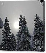 Snow Sun Acrylic Print