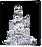 Snow Totem Pole Acrylic Print