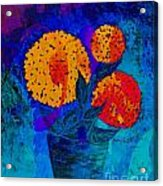 Snowball Plant Abstract 2 Acrylic Print