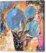 Snowball Plant Abstract 3 Acrylic Print