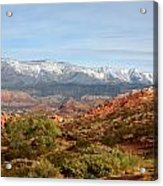 Snowcapped Foothills Acrylic Print