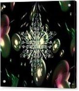 Snowflake Bubble Glass Acrylic Print