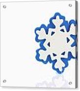 Snowflake With Reflection Acrylic Print