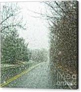 Snowing Morning Acrylic Print