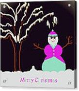 Snowlady Acrylic Print by Jan Steadman-Jackson