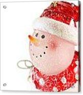 Snowman Figure Acrylic Print