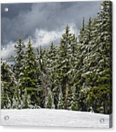Snowstorm In The Cascades Acrylic Print
