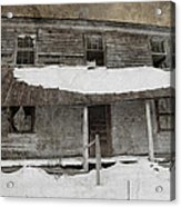 Snowy Abandoned Homestead Porch Acrylic Print