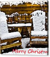Snowy Coffee Holiday Card Acrylic Print
