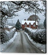 Snowy Day Acrylic Print by Karen Grist