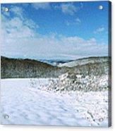 Snowy Hill Acrylic Print