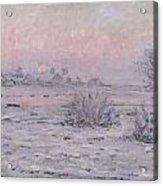 Snowy Landscape At Twilight Acrylic Print
