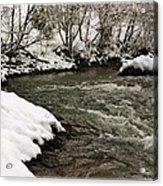 Snowy Mountain River Acrylic Print