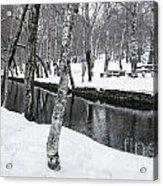 Snowy Park Acrylic Print
