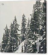Snowy Ridge Near Snoqualmie Pass Acrylic Print