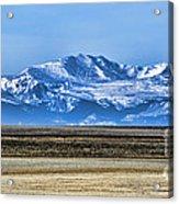 Snowy Rockies Acrylic Print
