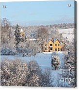 Snowy Scene In England Acrylic Print