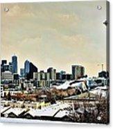 Snowy Seattle Acrylic Print