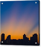 São Paulo City Dawning Acrylic Print by Flavio Coelho