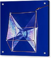 Soap Films On A Cube Acrylic Print