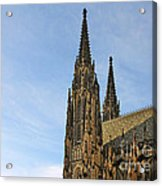 Soaring Spires Saint Vitus' Cathedral Prague Acrylic Print by Christine Till